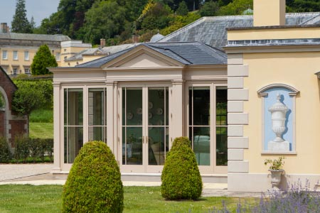 The orangery situated on this Devonshire estate house created additional living space