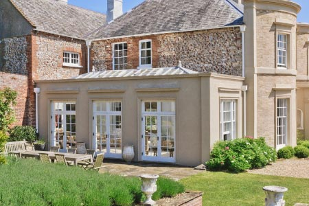 A classic masonry constructed orangery on a Listed Parsonage in Norfolk