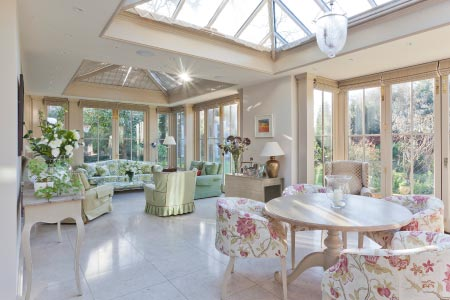 South facing orangery extends a period property in Cambridgeshire