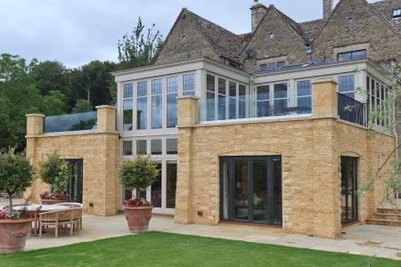 Magnificent two storey conservatory enjoys stunning views of  the Gloucestershire countryside
