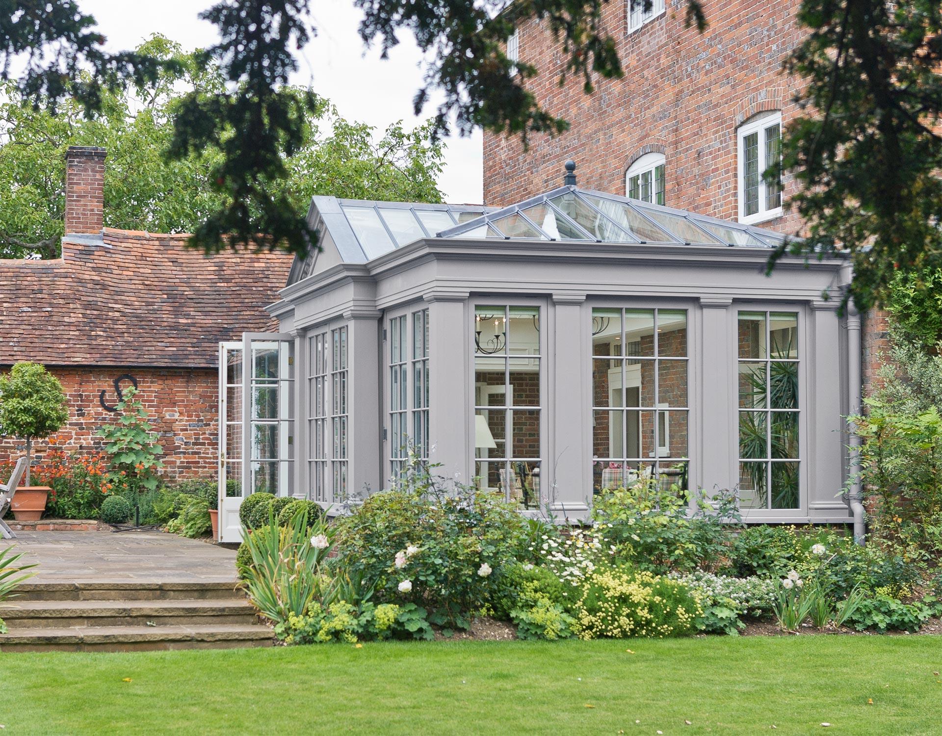 Orangeries bespoke orangeries by vale garden houses for Classic uk house