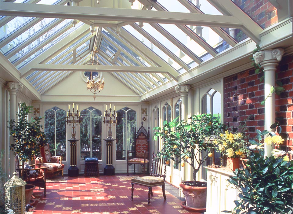 Interior view of a victorian conservatory