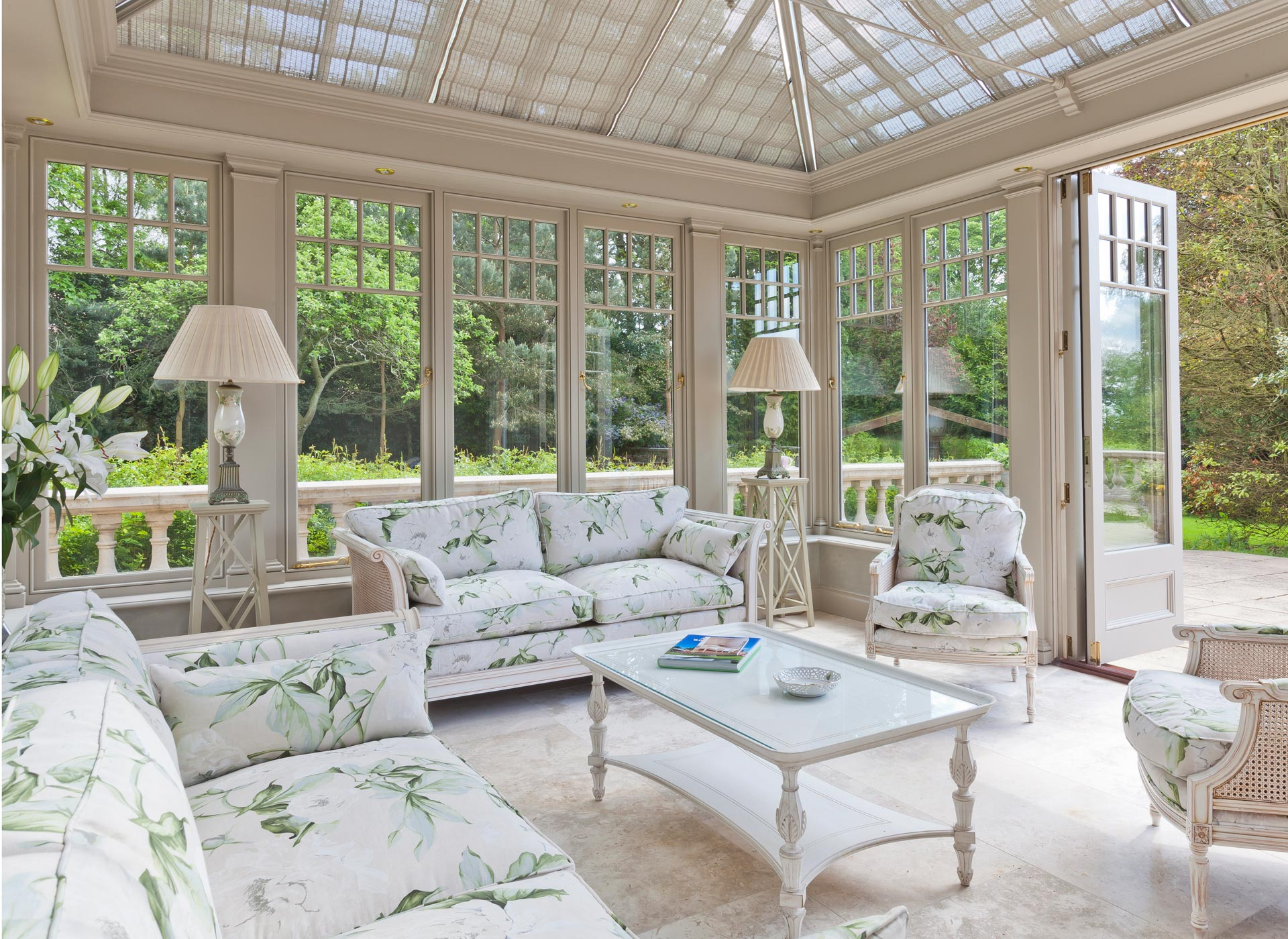 Conservatory furniture interiors by vale for Orangery lighting ideas