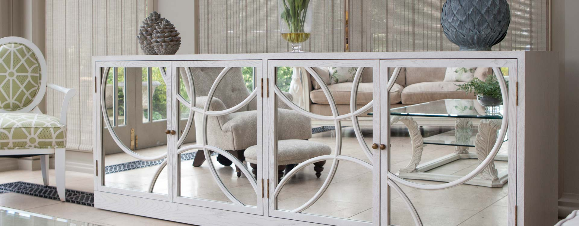 Conservatory Furniture in a showroom