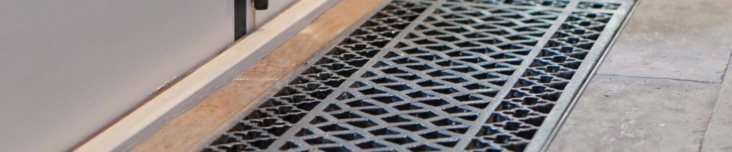 Floor Grill for heating conservatories