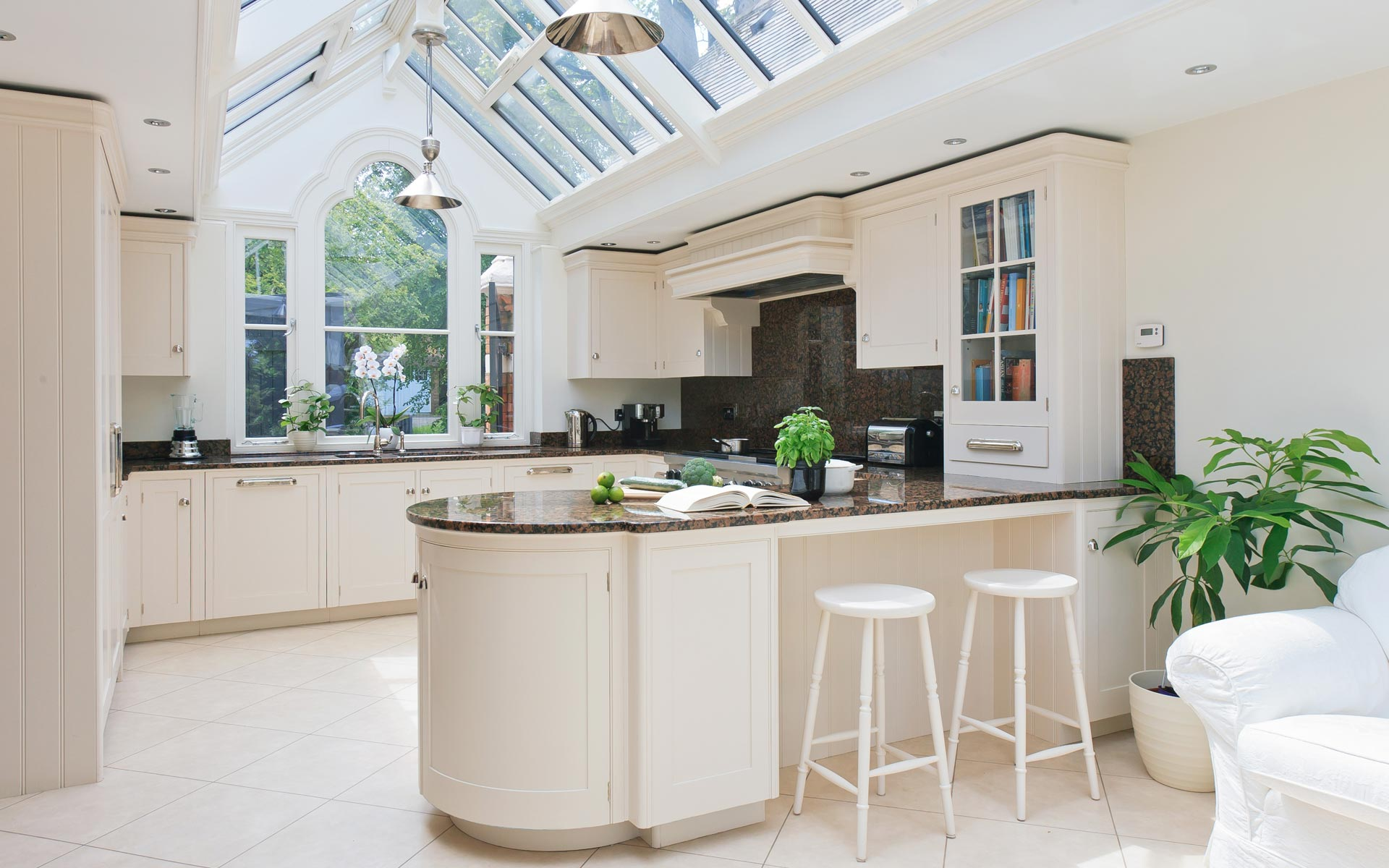 Your conservatory a modern kitchen with glazed addition to open up the room aloadofball Image collections