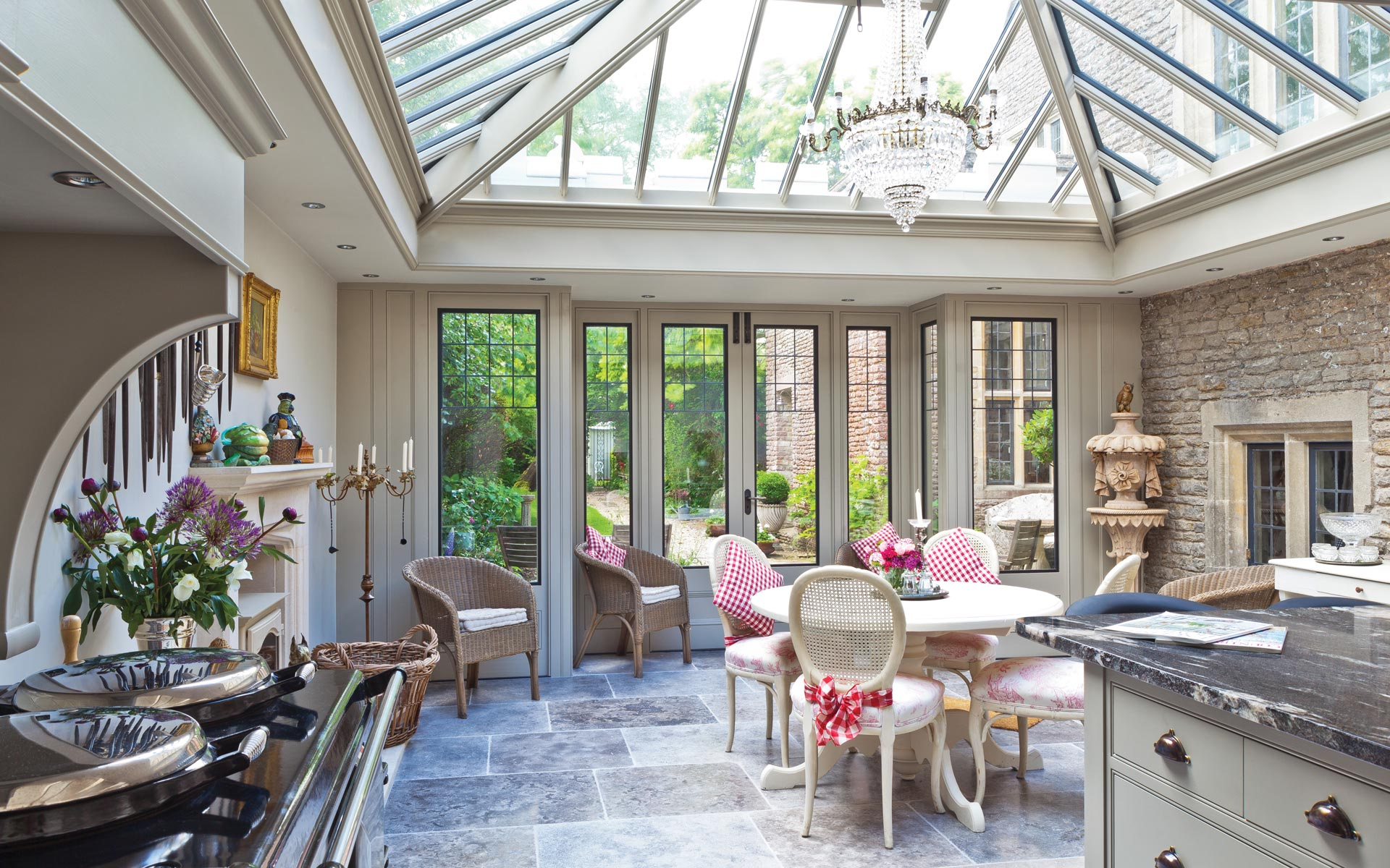 Using your conservatory for Orangery lighting ideas