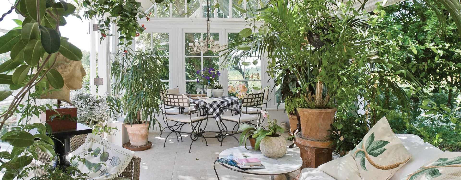Conservatory built perfectly for plants