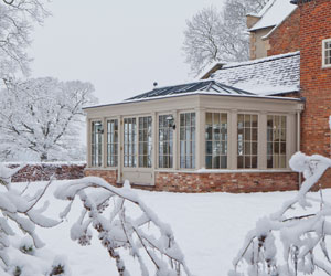 Vicorage after installation of Vale Garden Houses orangery