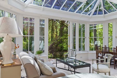 Interior view of victorian conservatory
