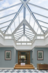 unique roof system by Vale Garden Houses